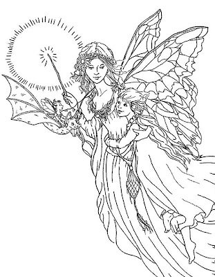 detailed fairy coloring pages - free elmo halloween coloring pages