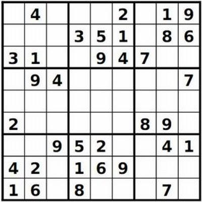 photo regarding Fill in Puzzles Printable referred to as printable simple sudoku: Web site Printable Very simple Sudoku