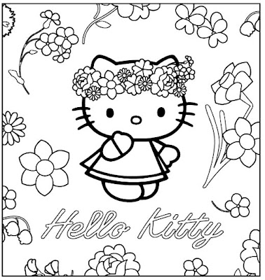 coloring pages hello kitty ~ Bred Southern Of Me
