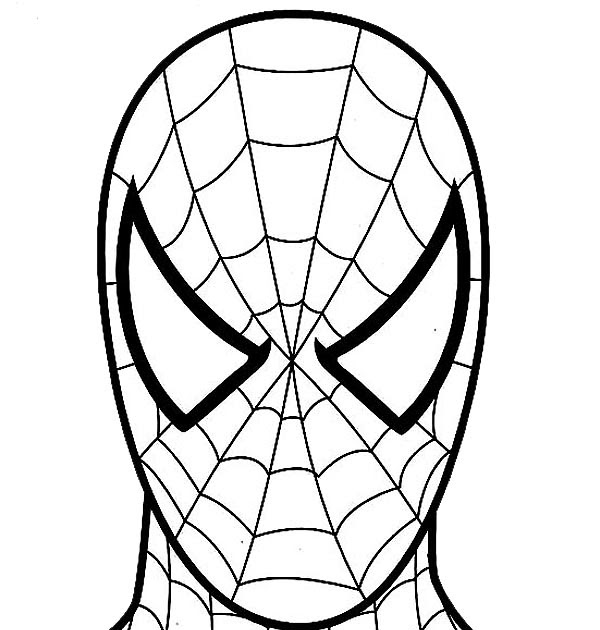 alphabet coloring sheets: Spiderman Coloring