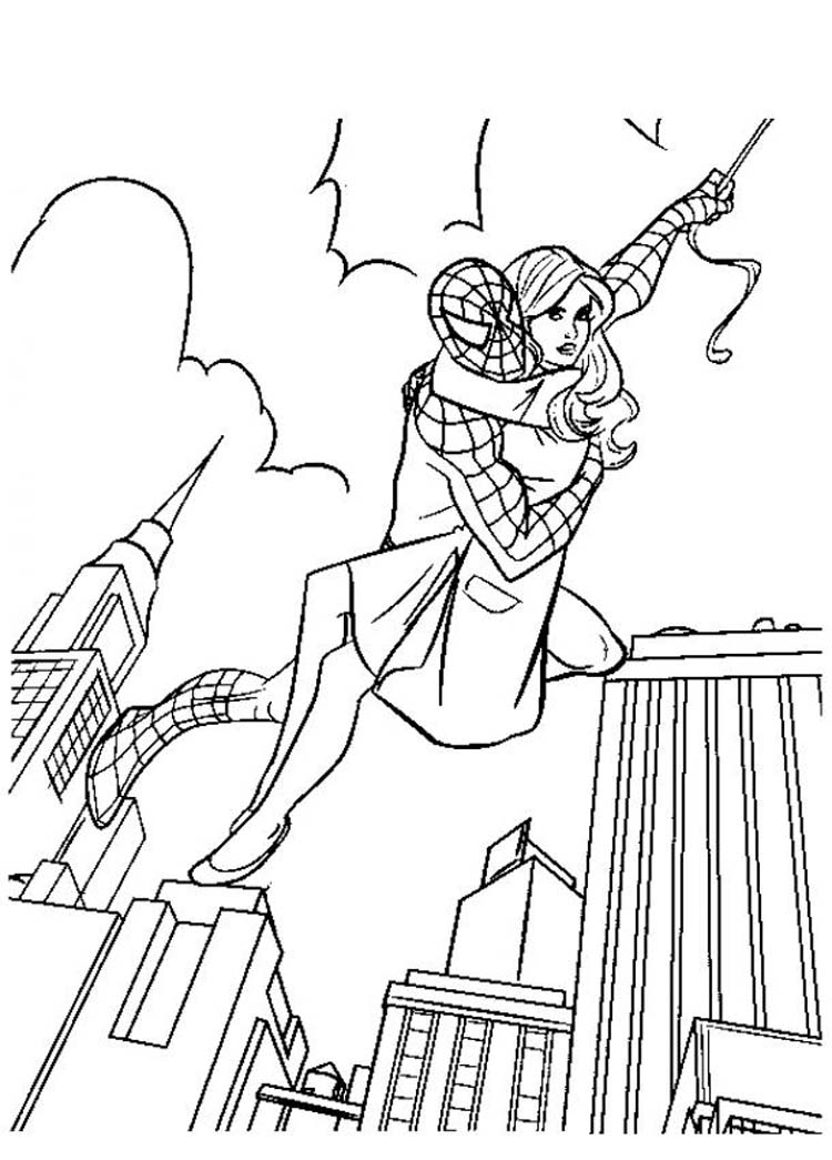 SPIDERMAN COLORING: SPIDERMAN COLOURING BOOK PAGES TO