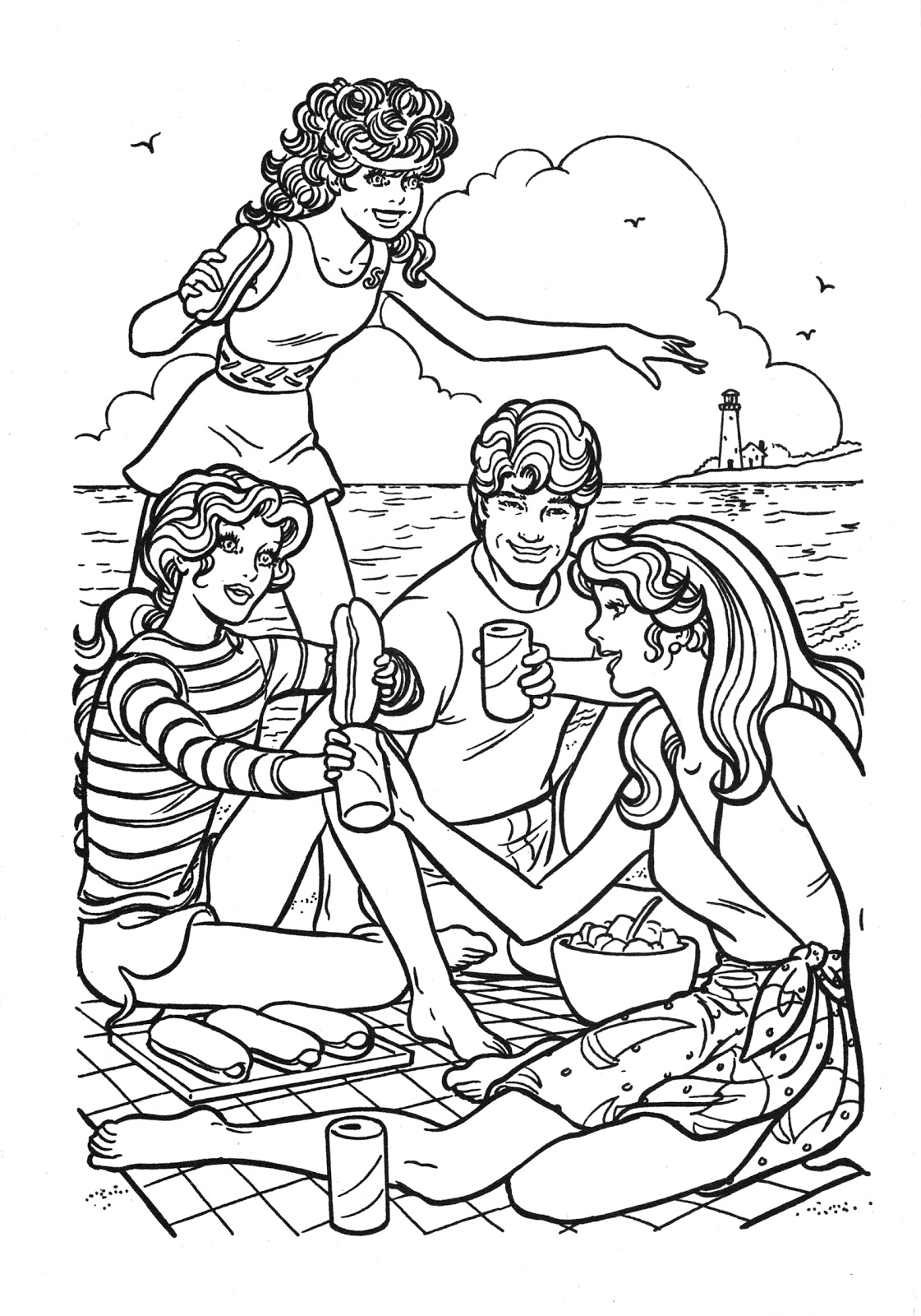 Barbie Coloring Pages Ken And Barbie Mattel