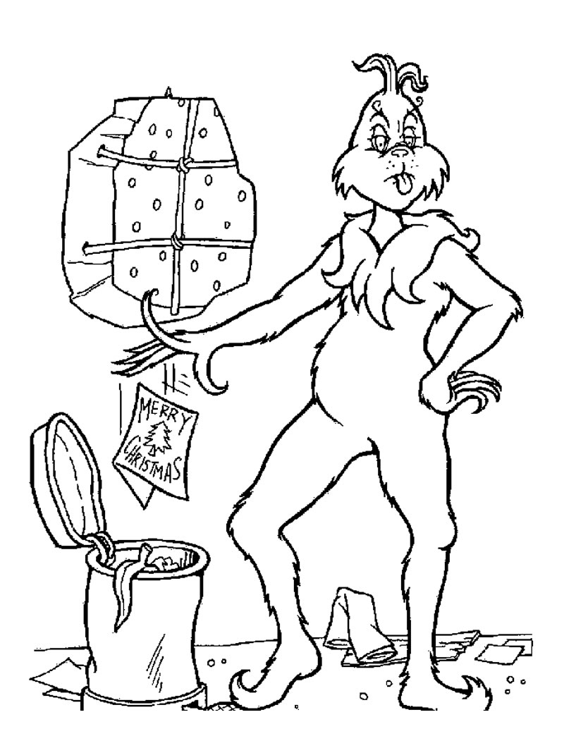 christmas coloring pages the grinch | XMAS COLORING PAGES