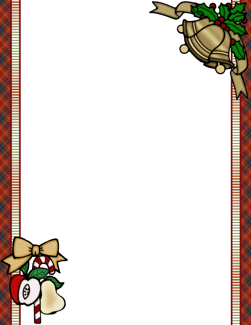 Christmas Border Template Vosvetenet – Border Paper Template