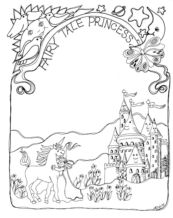 farytale princess coloring pages - photo#27
