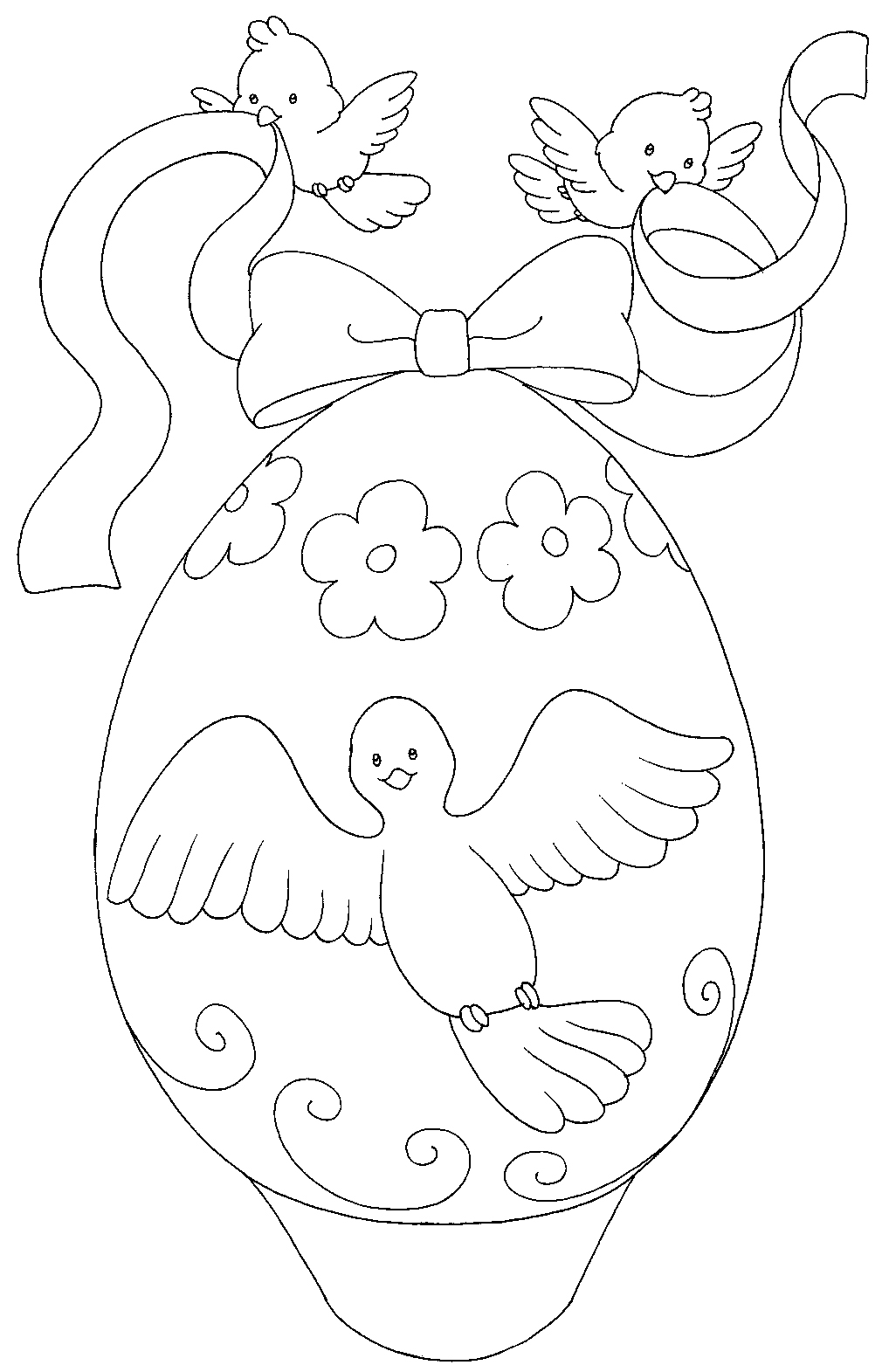 EASTER COLOURING: EASTER EGGS COLOURING PICTURES