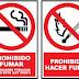 Ese jodido logo de Prohibido Fumar y Hacer fuego