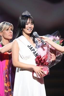 Miss Universe Japan 2008 Hiroko Mima attends the Pink Ball