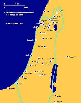 Careful 1892 Victorian Map ~ Palestine ~ Judea Galilee Decapolis Samaria Antiques