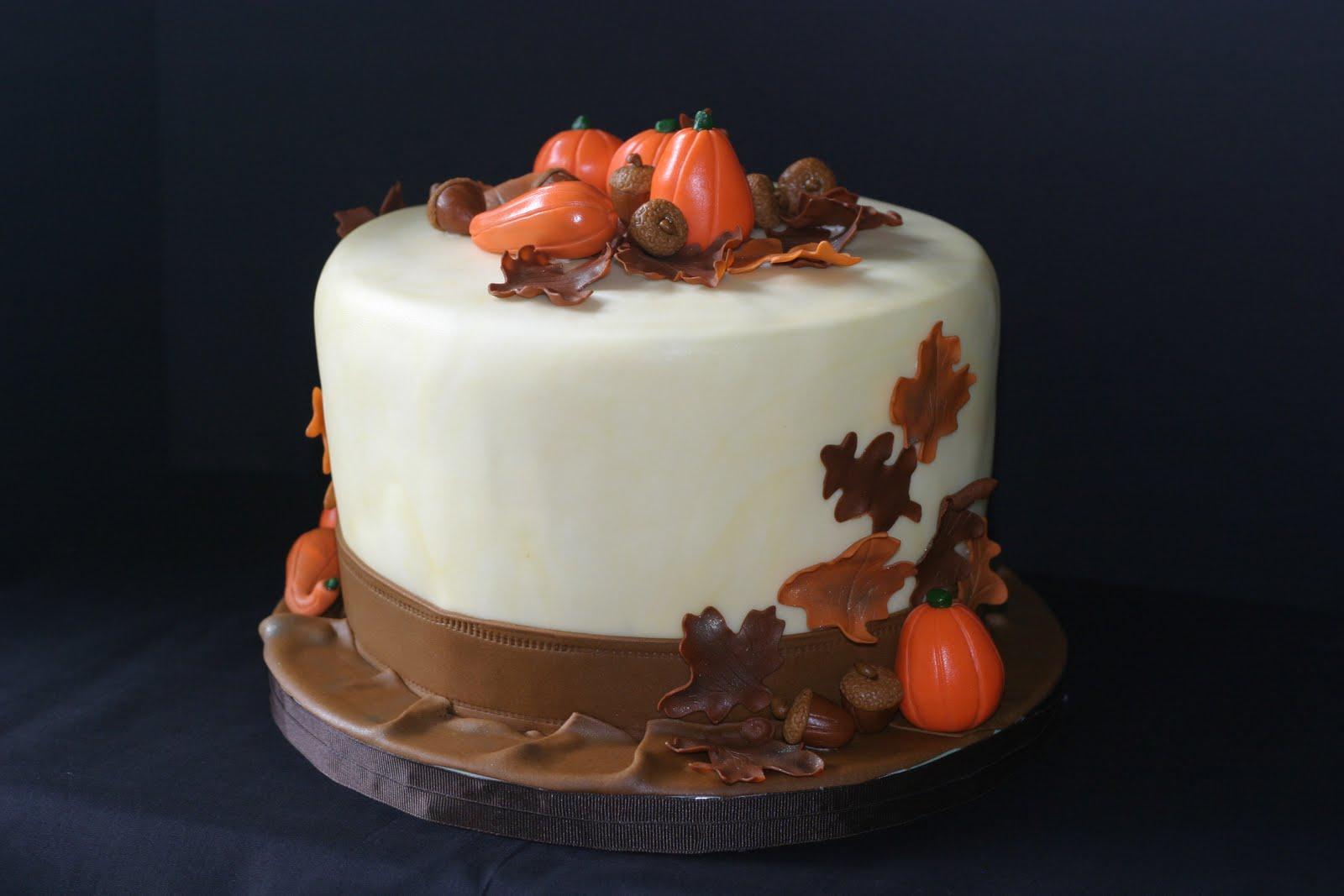 Pink Little Cake Thanksgiving Cake