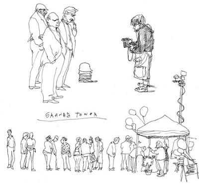 DAVID HARRILL: scale people drawings