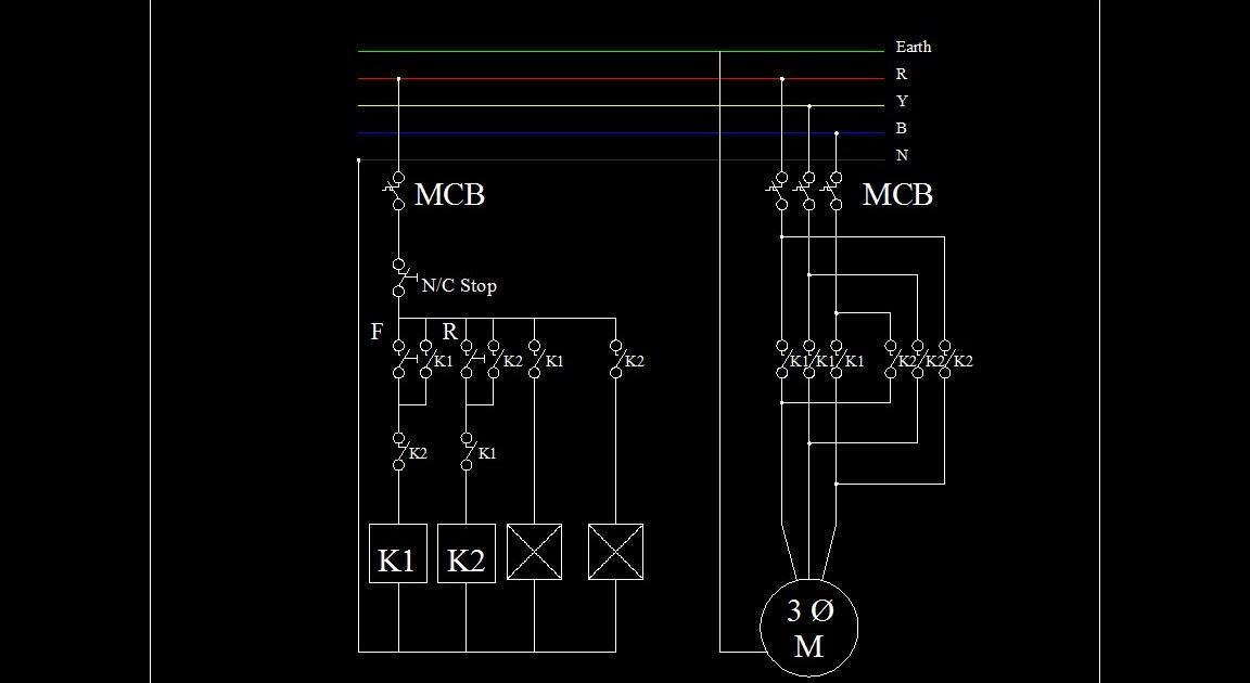 Motor Controling Circuits  U0026 Plc  Forward Reverse Circuit