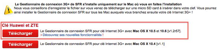 GESTIONNAIRE CONNEXION 3G TÉLÉCHARGER SFR CLE