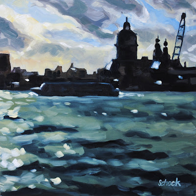 Amsterdam Oil Painting by Sharon Schock