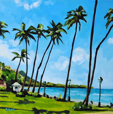 hawaii oil painting