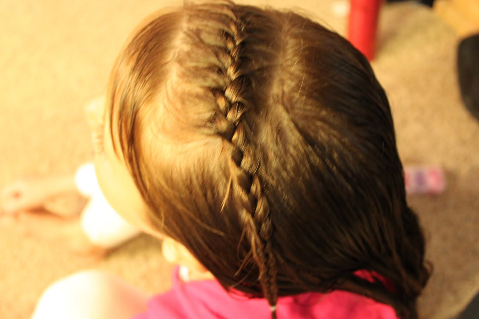 Front French Braid To Pigtails
