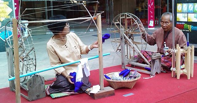 Making Thai Silk in Pattaya