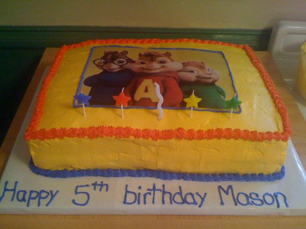 Alvin And The Chipmunks Birthday Cake: Shannon's Crazy Kitchen: Alvin And The Chipmunks Cake