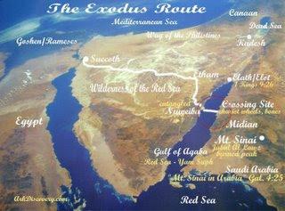 Peta lokasi nabi musa membelah lautan merah