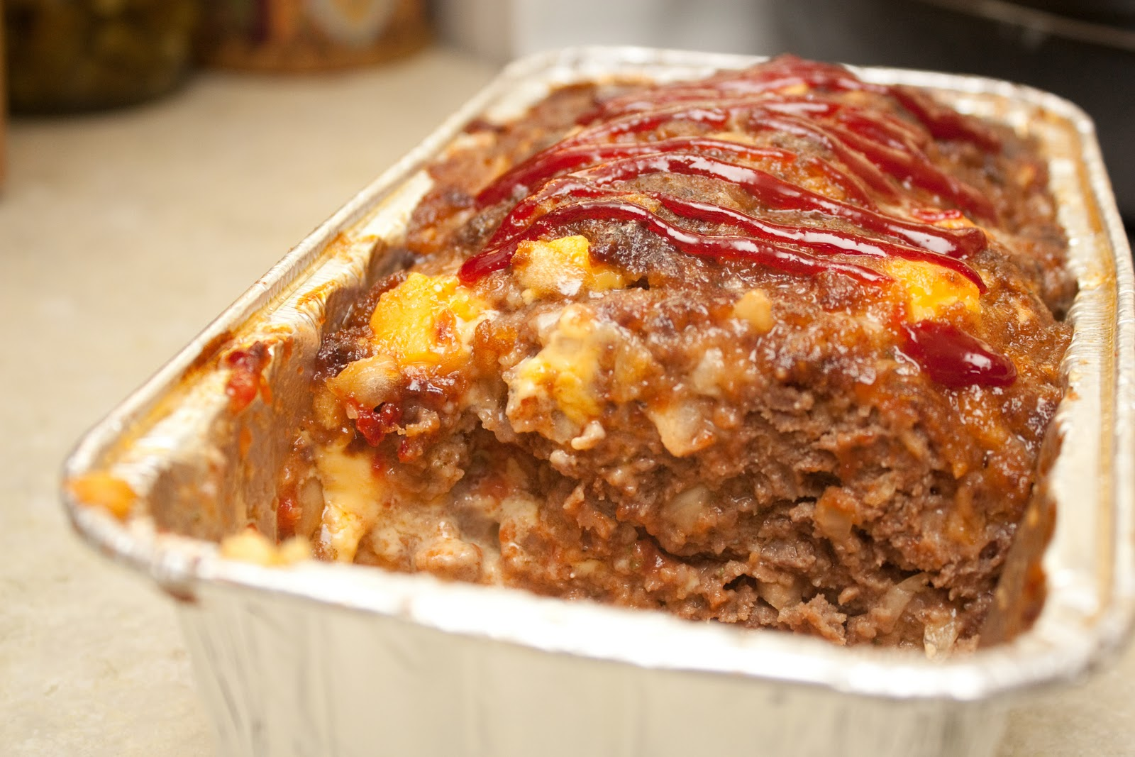 The Recipe Nest Cheesy Meatloaf