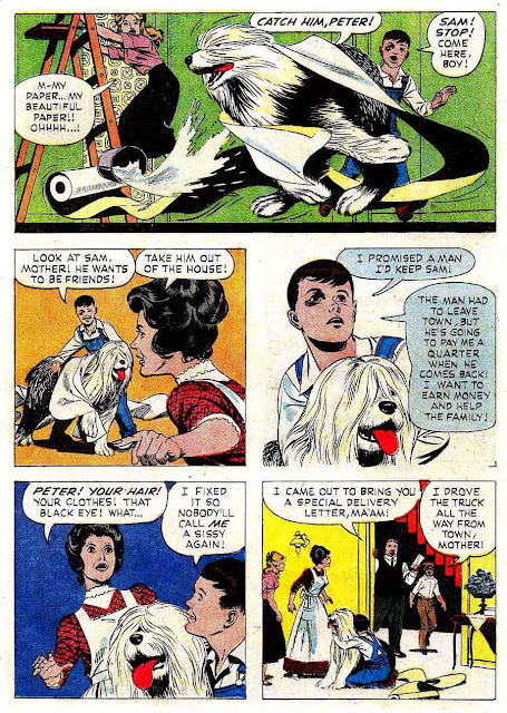 Summer Magic dell comic book page art by Russ Manning