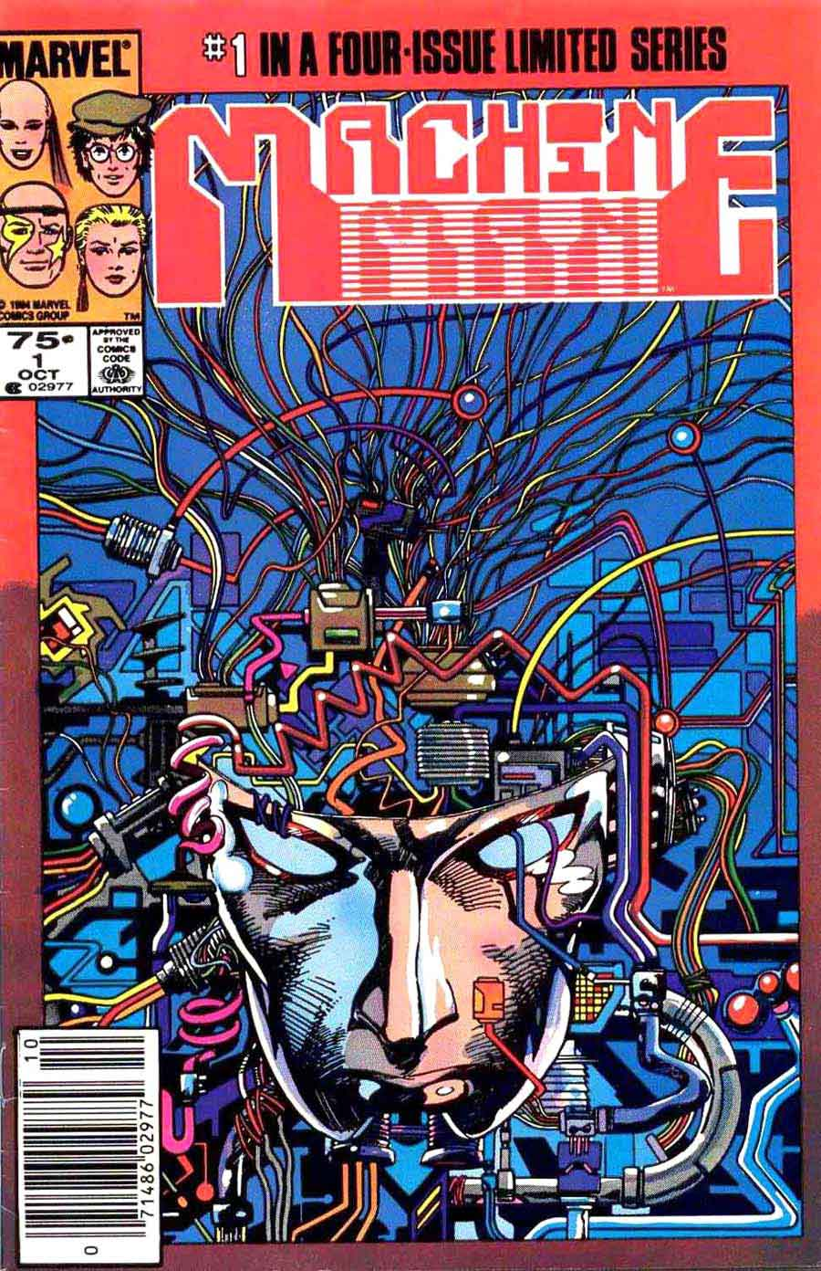 Machine Man v2 #1 marvel 1980s comic book cover art by Barry Windsor Smith