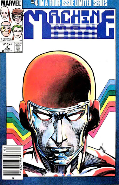 Machine Man v2 #4 marvel 1980s comic book cover art by Barry Windsor Smith