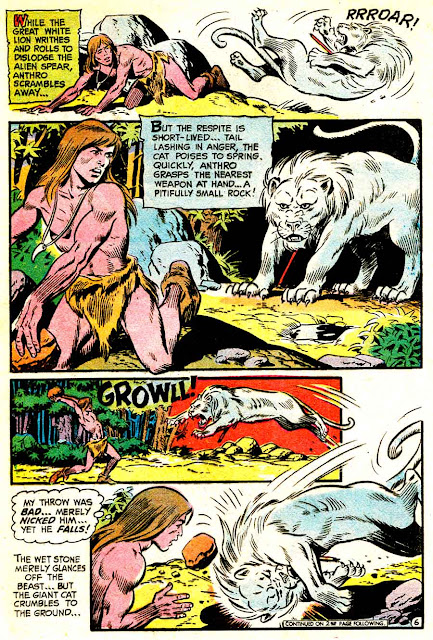 Anthro v1 #6 dc silver age 1960s comic book page art by Wally Wood