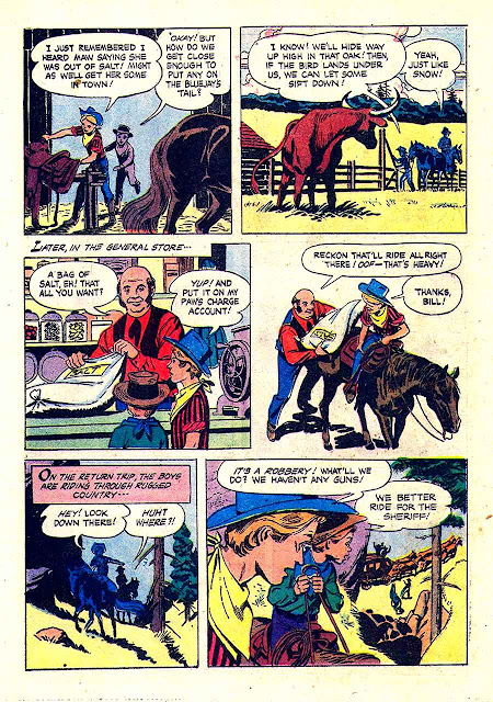 Annie Oakley and Tagg v1 #13 dell western 1960s silver age comic book page art by Russ Manning