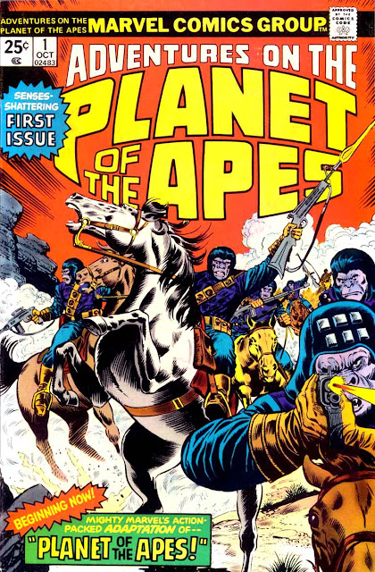 Adventures on the Planet of the Apes v1 #1, 1975 marvel bronze age comic book cover