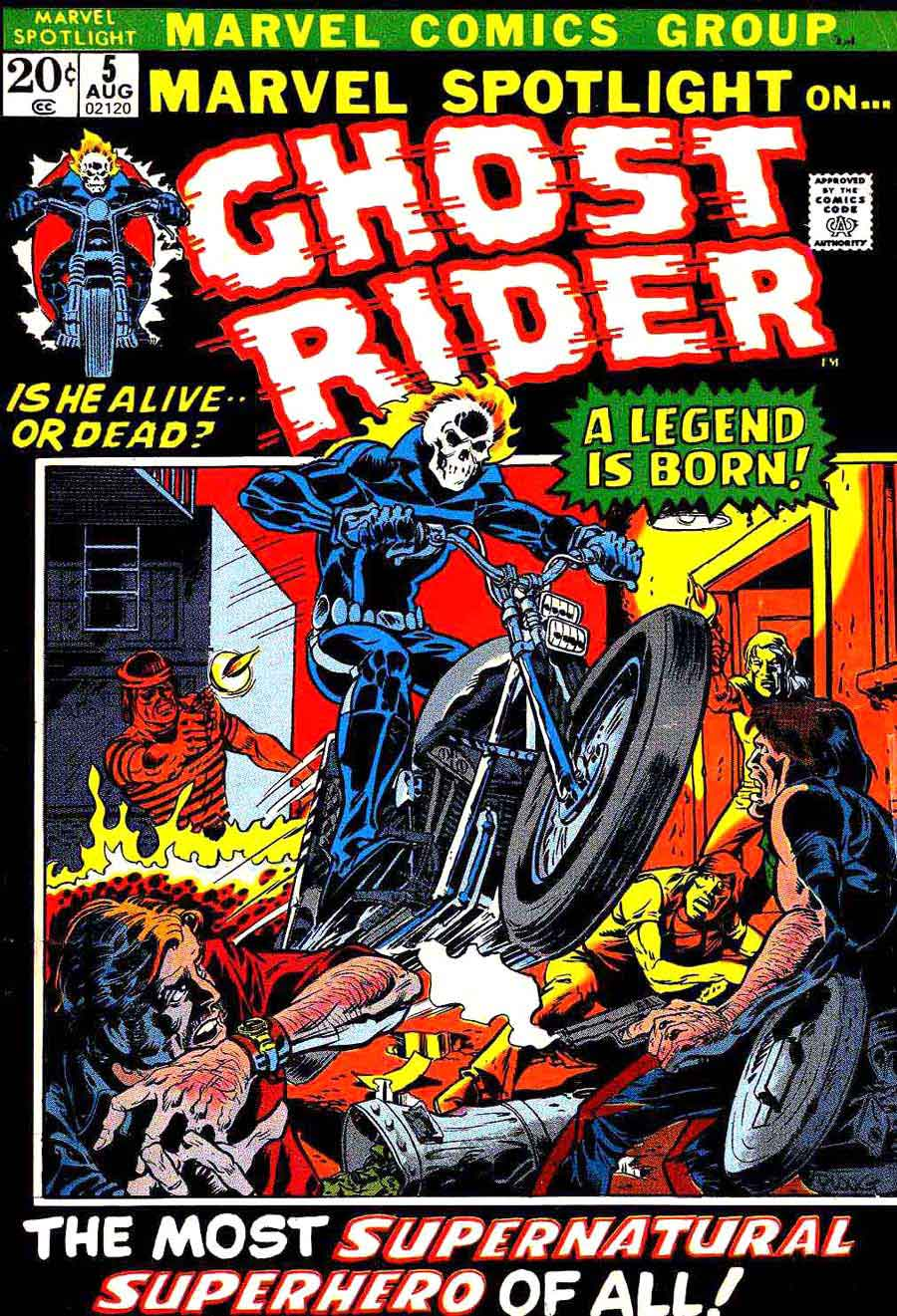 Marvel Spotlight v1 #5 Ghost Rider marvel comic book cover art by Mike Ploog