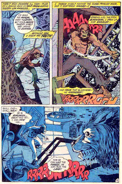 Marvel Spotlight v1 #2 Werewolf by Night marvel comic book page art by Mike Ploog
