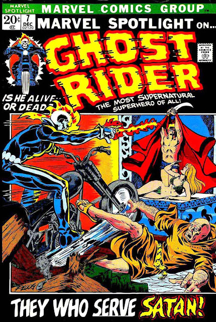 Marvel Spotlight v1 #7 Ghost Rider marvel comic book cover art by Mike Ploog