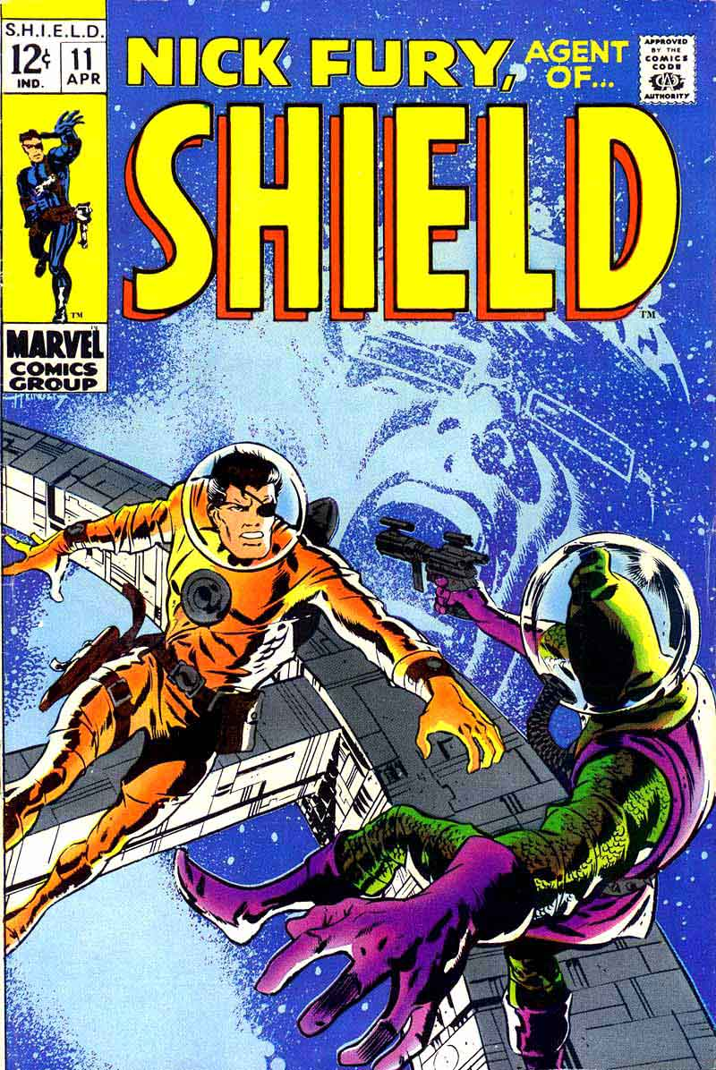 Nick Fury Agent of Shield v1 #11 1960s marvel comic book cover art by Barry Windsor Smith