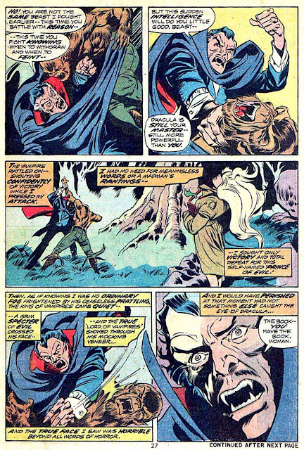 Werewolf by Night v1 #15 1970s marvel comic book page art by Mike Ploog