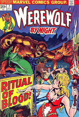 Werewolf by Night v1 #7 1970s marvel comic book cover art by Mike Ploog