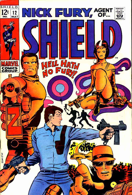 Nick Fury Agent of Shield v1 #12 1960s marvel comic book cover art by Barry Windsor Smith