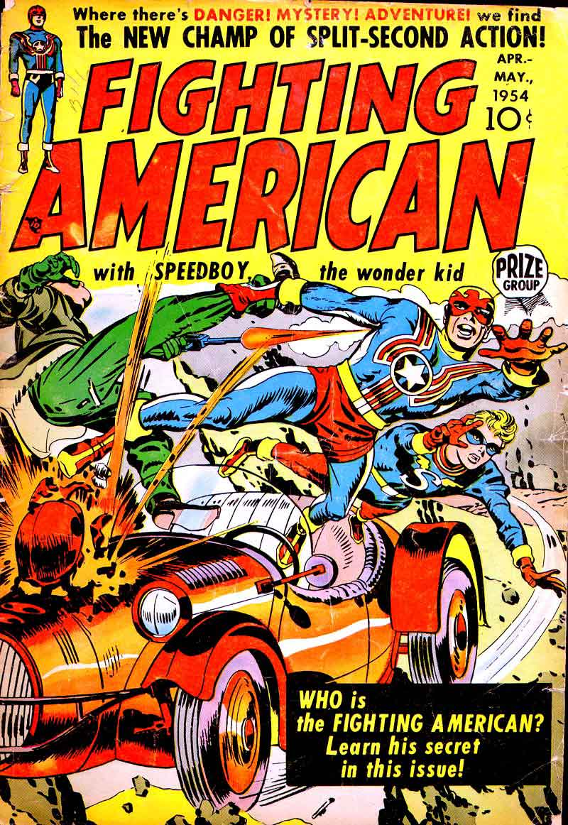 Fighting American v1 #1 harvey comic book cover art by Jack Kirby