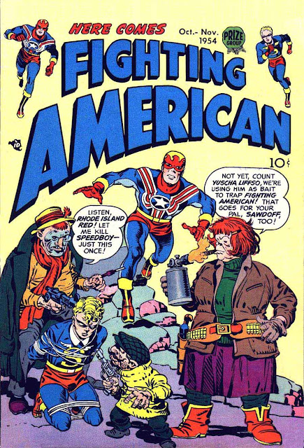 Fighting American v1 #4 harvey comic book cover art by Jack Kirby
