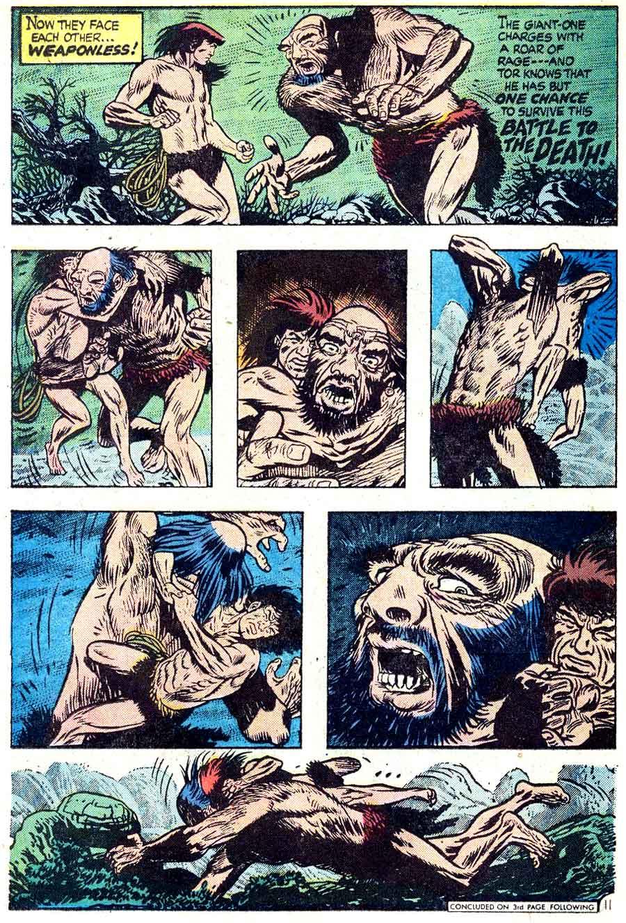 Tor v2 #5 dc bronze age comic book page art by Joe Kubert