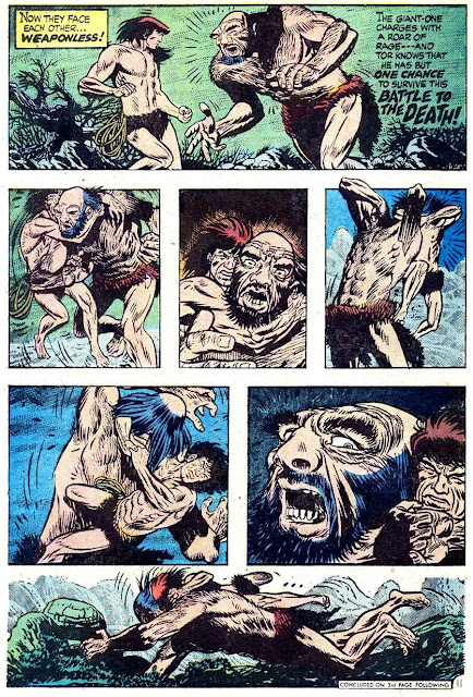 Tor v2 #5 dc bronze age comic book page art by Joe Kubert