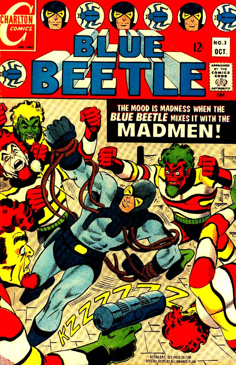 Blue Beetle v5 #3 charlton 1960s silver age comic book cover art by Steve Ditko