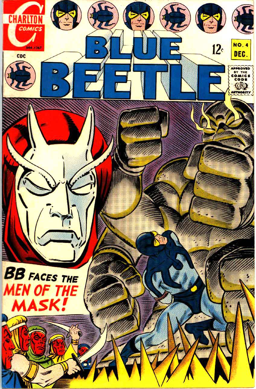 Blue Beetle v5 #4 charlton 1960s silver age comic book cover art by Steve Ditko