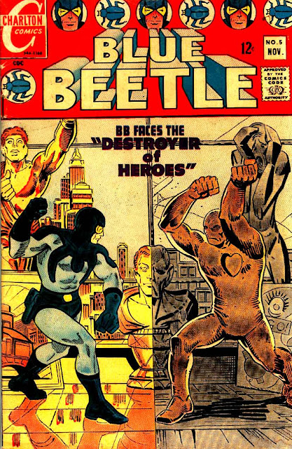 Blue Beetle v5 #5 charlton 1960s silver age comic book cover art by Steve Ditko