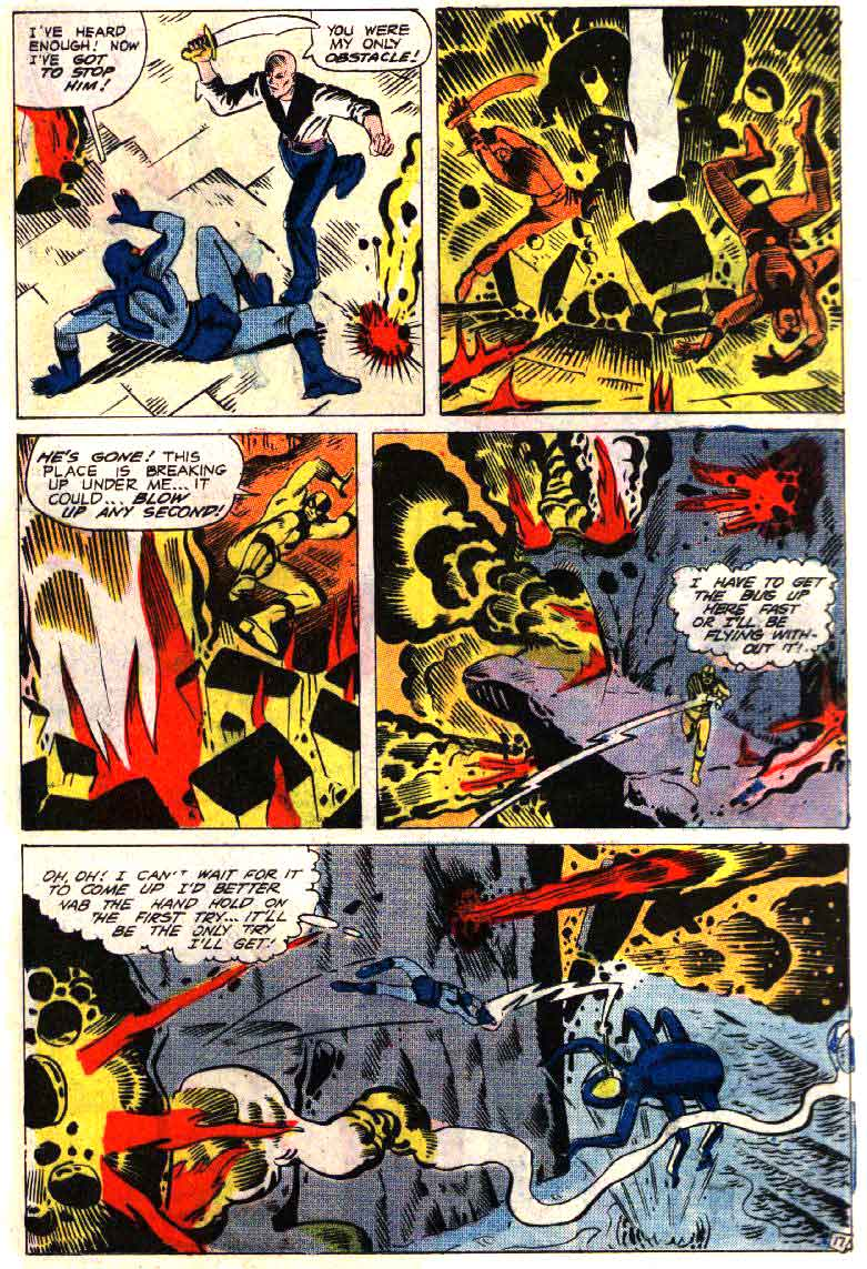 Blue Beetle v5 #4 charlton 1960s silver age comic book page art by Steve Ditko