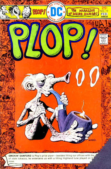Plop v1 #19 dc 1970s bronze age comic book cover art by Wally Wood