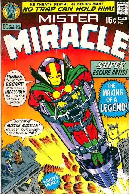 Mister Miracle v1 #1 dc 1970s bronze age comic book cover art by Jack Kirby