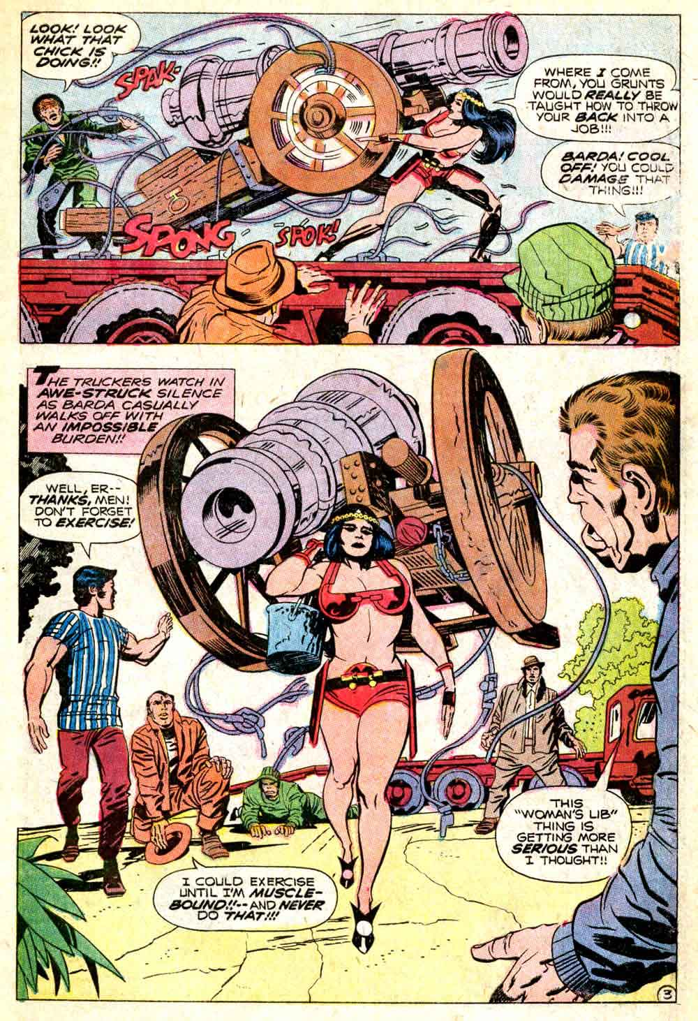Mister Miracle v1 #5 dc 1970s bronze age comic book page art by Jack Kirby