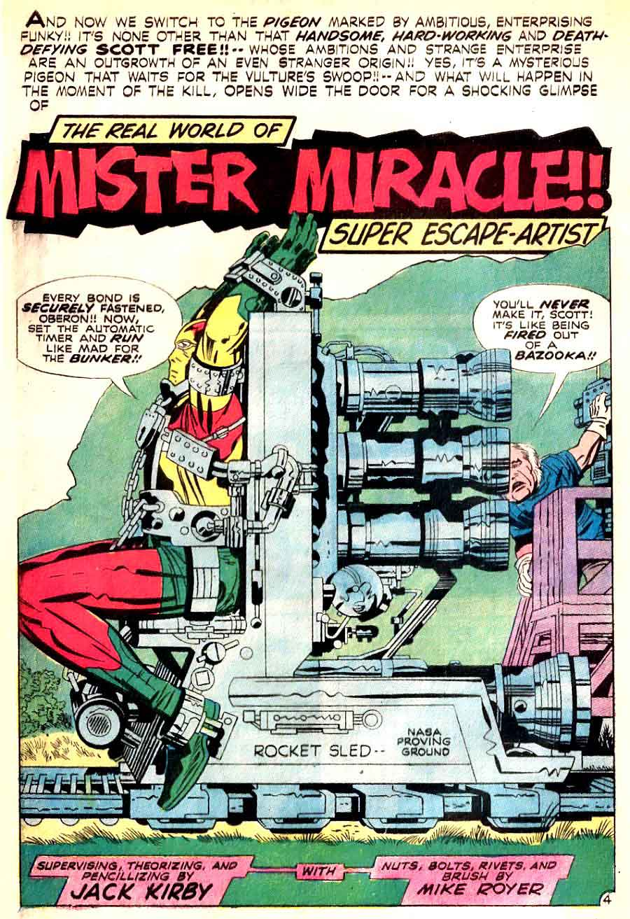 Mister Miracle v1 #6 dc 1970s bronze age comic book page art by Jack Kirby