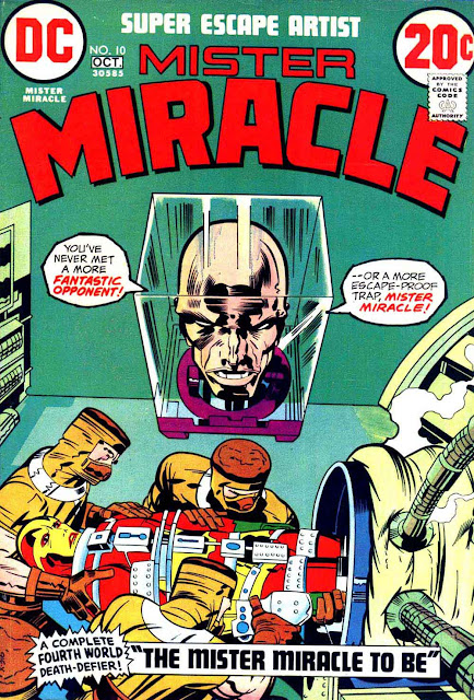 Mister Miracle v1 #10 dc 1970s bronze age comic book cover art by Jack Kirby